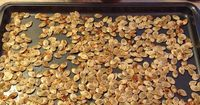 Roasted Pumpkin Seeds Recipe - easy to make and tastes delicious! After you have fun carving you pumpkin, make sure to save the seeds for a snack later.