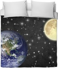 Earth and Moon Duvet Cover $120.00