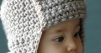 Baby Crochet Hat...this would look great in a cute color.....