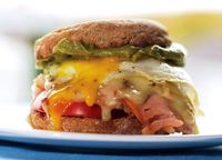 Sunrise Sandwich with Turkey, Cheddar, and Guacamole Yeah, it's just you this morning, but that doesn't give you the green light to grab a fast food breakfast sandwich. This recipe for one is a great alternative; it's loaded with healthy ingre...