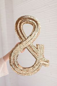 Learn how to get just the right amount of sparkle with a DIY jumbo sequined monogram, with Ashley from Sugar and Cloth!