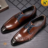 Men Leather Shoes | CWMALLS® London Vintage Leather Derby Shoes CW719012 [Global Free Shipping]