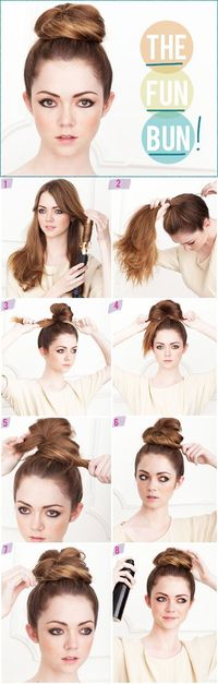 I do the ballerina bun all the time when I'm in a hurry! SOOO easy if you get some spin pins!!