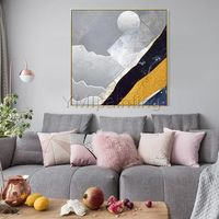 Gold art Modern abstract wall art Paintings on canvas Original art acrylic painting extra large wall pictures hand painted home decor $140.00