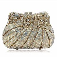 Women Crystal Evening Bags Party Gold / Wedding Clutches $131.98