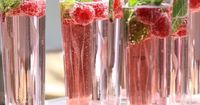 champagne, raspberries + mint... holiday cocktails