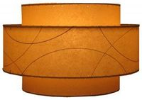 fiberglass lampshade lit -- They make pendant lamps and drum shades for floor/table lamps.