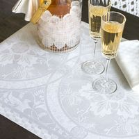 Duchesse White Table Linens by Le Jacquard Français $95.00