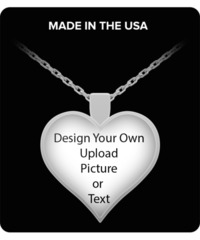 Personalize Your Own Necklace Text Or Picture. $24.95