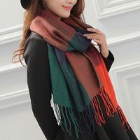 Warm Soft Pashmina Cashmere Neck Scarves for Women $14.94