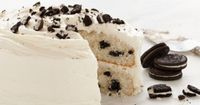 Cookies & Creme Cake-�€�1 pkg Duncan Hines® Moist Deluxe® Classic White Cake Mix �€�3 large egg whites �€�1 1/3 cups water �€�2 tbsp vegetable oil �€�1 cup cream filled chocolate sandwich cookies, coarsely chopped �S...