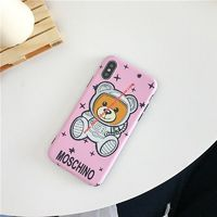 Moschino Ufo Teddy iPhone Case Pink