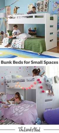 We've created a kids bunk bed with more space-saving capabilities than ever before. Our Abridged Bunk Bed features a smaller profile and is really a loft bed and rolling twin bed combo (and includes stairs, too). It'll feel right at ho...