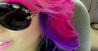pink and purple hair. Great way to do bright color.