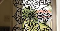 DIY: Faux Stained Glass Tutorial - using liquid leading glass paint. You can apply this to your windows remove without ruining your glass. Great fix when you need privacy but don't want to block the light.