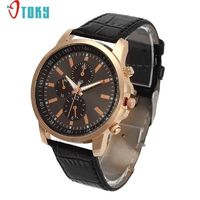 Excellent Quality OTOKY Luxury Quartz Watches Men's Geneva Quartz Leather Strap Relogio Masculino R237.60