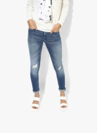 Blue Washed Mid Rise Regular Jeans comfortable campus �'�2550.00