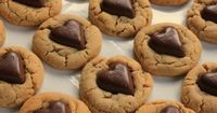 "Valentine's Day Recipe �€"" Chocolate Heart Peanut Butter Cookies"