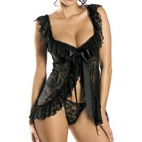 RoyalChoice Sexy Sheer Lace Lingerie Set $29.97