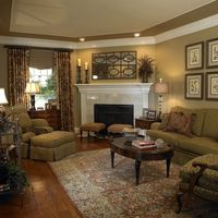 Traditional Living Room Corner Fireplaces Design, Pictures, Remodel, Decor and Ideas