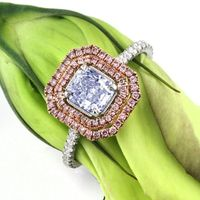Mark Broumand 1.42ct Fancy Light Blue Radiant Cut Diamond Engagement Ring: Mark Broumand: Jewelry
