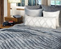 Channel Mineral Velvet Quilt by Kevin O'Brien Studio $657.00