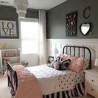 Camryn's new big girl room - designed with lots of love! #diy board and batten�€�