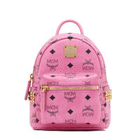 MCM X-Mini Stark Side Odeon Studded Backpack In Pink
