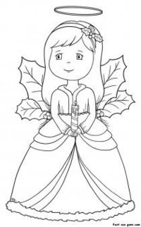 Free Printable Angel Coloring Pages For Kids | Fotos de anjo ... | 322x200