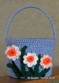 Suzies Stuff: CROCHETED EASTER BASKET