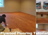 Awesome Plywood Flooring Tutorial, step by step featured on Remodelaholic.com #tutorial #plywood #flooring