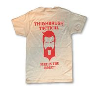 """THIGHBRUSH® TACTICAL - """"Fire in the Hole"""" - Men's T-Shirt - Grey"""