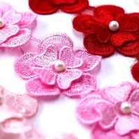 Pack of 16 Lace Flowers Applique Trim For Wedding Dress. Different Colours Organza £8.99