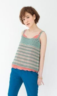 crochet shirt - free diagram pattern (Japanese)