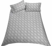 Argos Value Range Circles Bedding Set - Kingsize This Argos Value Range Circles Duvet Cover Set is great for a contemporary bedroom. This duvet cover set includes a duvet cover and 2 pillowcases. Set includes 1 duvet cover and 2 pillowcases. Machine http:...