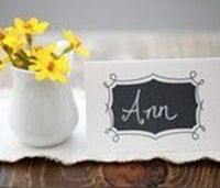 Free Printables | Chalkboard Place Cards - bridesmaid luncheon