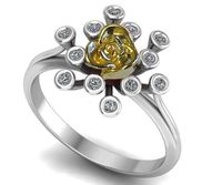 18K Explosive Flower Twig Ring, Uniques Engagement Ring, Trendy Ring, Graduation Gift, Back to school Ring $885.00