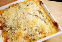 Checkout this delicious Pimento Green Bean Casserole Recipe at LaaLoosh.com. Smothered in a bacon cheese sauce, it's hard to belive this low calorie casserole r