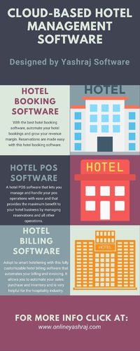 Are you looking for cloud based hotel management software? Choose the best hotel management software with us. We provide best management software for your business. We have built the software with great features and capacities that offers hurdle hotel man...