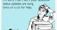 "I definitely have this problem. Maybe a little ""I really like this song"" preface would help clear things up."
