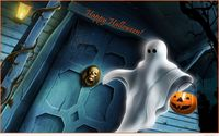 Funny Halloween ghost wallpaper