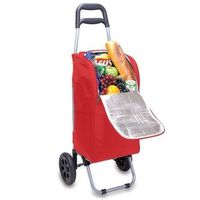 Picnic Time Insulated Cart Cooler with Wheeled Trolley Red Color 545-00-100