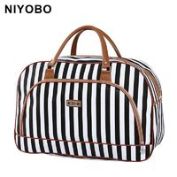 Women Travel Bags Leather Large Capacity Waterproof Luggage Duffle Bag Casual Travel $38.47
