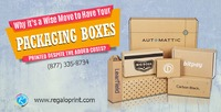 Packaging boxes can work as your brand ambassador if you get them printed in style. RegaloPrint is way more than just a United States Based Packaging Box Supplier, full teams of designers and printing experts and whole lot of high volume packaging product...