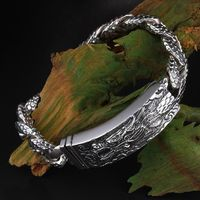 individuality leader men's 925 sterling silver Thai silver bracelet 925 silver jewelry $484.85