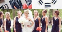 {Wedding Colors I love}: Navy Blue, Coral + Antique Gold!