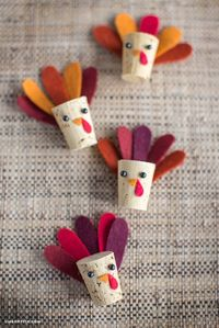Get the kids involved and make yourselves a DIY cork turkey this Thanksgiving. Fun and simple to make, this is the perfect Holiday craft. by Lia Griffith.