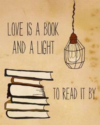 Love is a book and a light