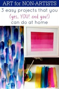 3 easy diy art projects that you can do at home via