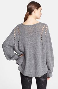loose knit sweater - love the detail of the cut-outs and that it looks so comfy cozy.